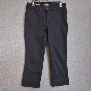 NYDJ Alina Capri Stretch Jeans Sz 6 Black